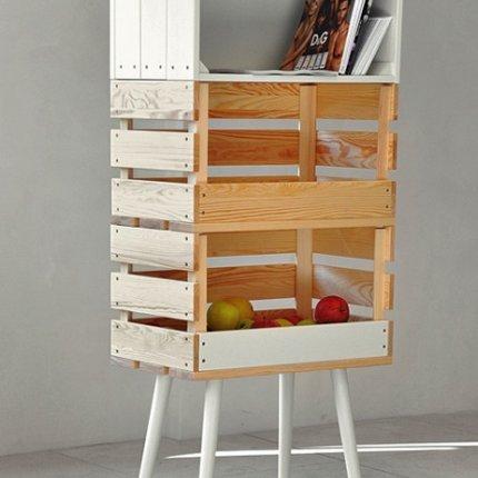 Les cagettes et les palettes c est chouette my cherry trend 39 home - Meuble cagette en bois ...