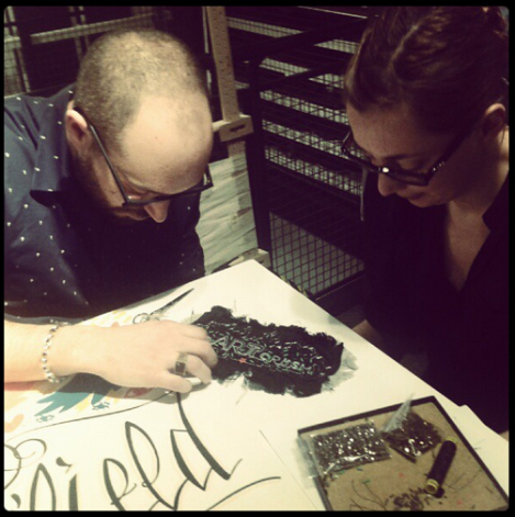 Mathieu et Sophie - Atelier heArt Crush my Jean - broderie au crochet #Instagram Photo