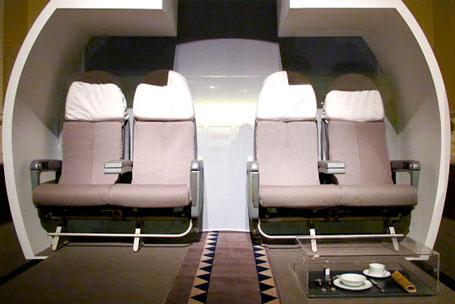 Intérieur de la cabine du Concorde - Crédit DR