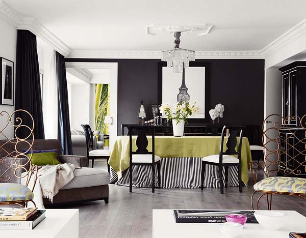 Rayures noires et blanches quand la maison fait sa for Decoration espagnol