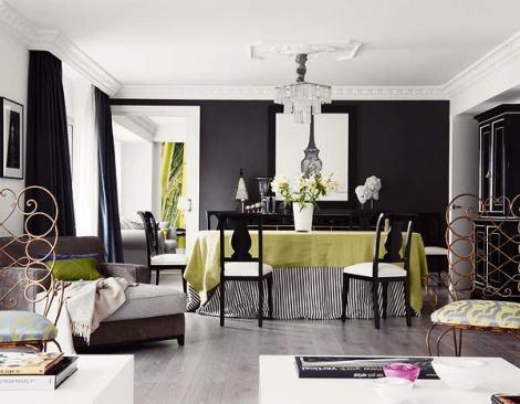 Crédit Photo: studio de décoration espagnol  Melian Randoph - Inspiration http://noiretblancunstyle.blogspot.fr  #Nappe rayée
