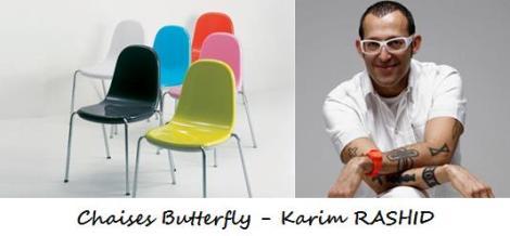 Chaises Butterfly - Karim Rashid