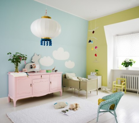 Pastel children bedroom - www.jennyshus.webblogg.se